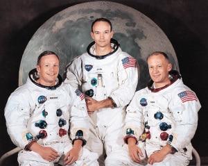 La tripulación del Apolo 11: Neil Armstrong, Michael Collins y Buzz Aldrin