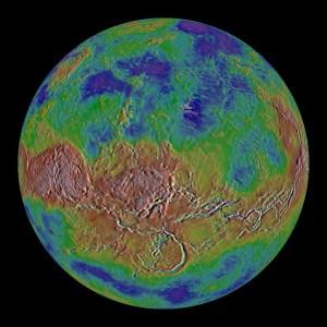 venus topografia