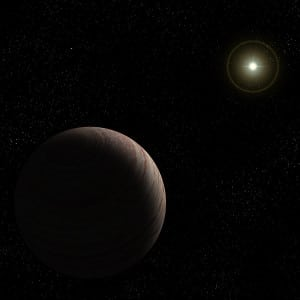 Recreación artística del exoplaneta 47 Ursae Majoris b