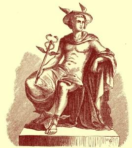 Representación de Hermes (Mercurio en la mitología romana)