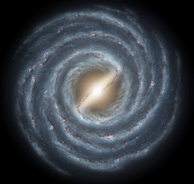 El brillo de los brazos de la Vía Láctea