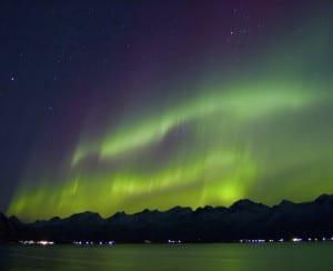 La Aurora Boreal en Lofoten, Norte de Noruega  Crédito: Stockshots - Visitnorway.com