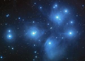 La constelación de las Pléyades