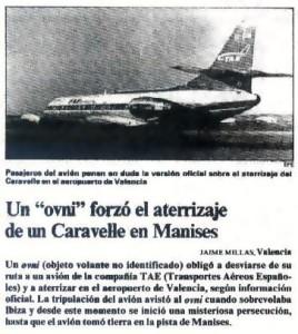 El incidente ovni de Manises (1979), es probablemente el caso más popular de la ufología en España.