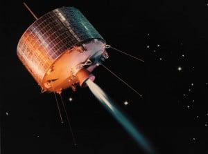Syncom I, el primer satélite geosíncrono Crédito: NASA