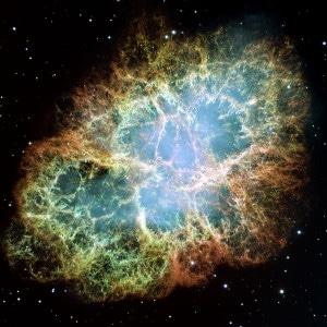 La siempre espectacular Nebulosa del Cangrejo. Crédito: NASA, ESA, J. Hester y A. Lol
