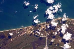 Foto tomada por Scott Kelly, del lanzamiento del Falcon 9. Crédito: Scott Kelly / NASA