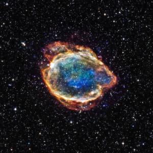 G299 (así se denomina), son los restos de una supernova de tipo 1a. Crédito: NASA/CXC/U.Texas