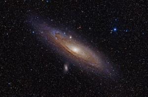La galaxia de Andrómeda. Crédito: Adam Evans
