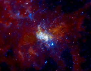 En esta imagen, en rayos X, puedes ver Sagitario A y la zona que lo rodea. Crédito: NASA/CXC/MIT/F. Baganoff, R. Shcherbakov et al.