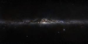 Imagen panorámica de la Vía Láctea (es una recreación, obviamente). Crédito: ESO/S. Brunier
