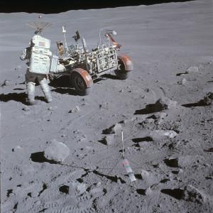 Imagen de la superficie lunar, tomada durante la misión Apolo 16. Crédito: NASA