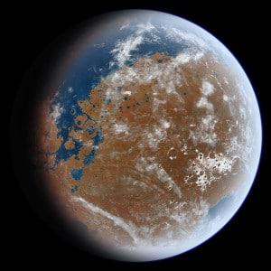 """Es posible que, hace 3.800 millones de años, Marte tuviese un aspecto similar a éste. Crédito: Usuario """"Ittiz"""" de Wikipedia"""