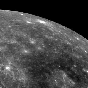 Detalle de la superficie de Mercurio. Crédito: NASA