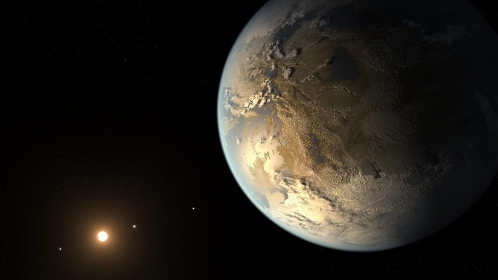 Recreación artística de Kepler-186f. Crédito: NASA Ames/SETI Institute/JPL-Caltech