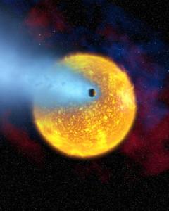 Recreación artística de Osiris. Crédito: NASA, European Space Agency, Alfred Vidal-Madjar (Institut d'Astrophysique de Paris, CNRS)