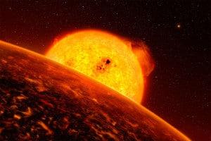 Concepto artístico del exoplaneta Kepler-37b. Crédito: IAU/L. Calçada