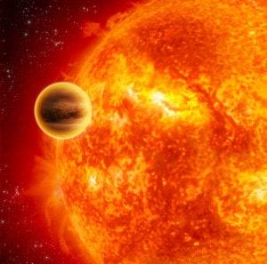 Recreación artística de 51 Pegasi b. Crédito: NASA/JPL-Caltech