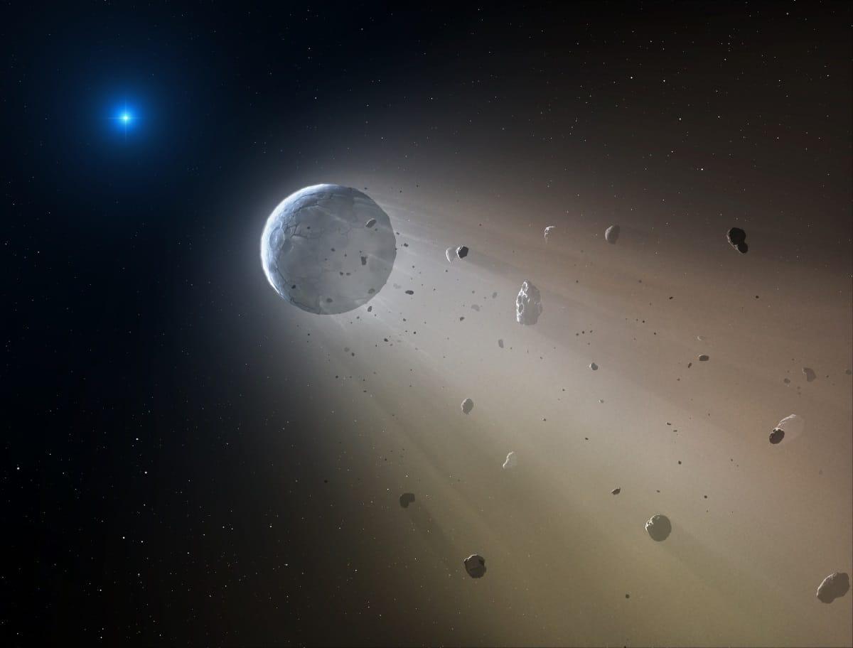 Primera evidencia de una enana blanca destruyendo un planeta