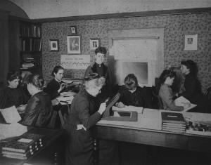 Las mujeres que trabajaban en el Observatorio de Harvard en el año 1.890. Crédito: Harvard College Observatory