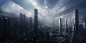 """""""La Ciudadela"""", una colonia espacial de la saga de videojuegos de ciencia ficción Mass Effect. Crédito: Bioware / Electronic Arts"""