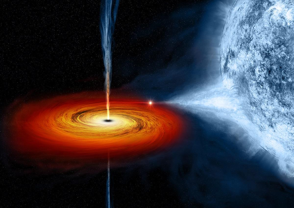 Un agujero negro extremo que podría rotar el espacio