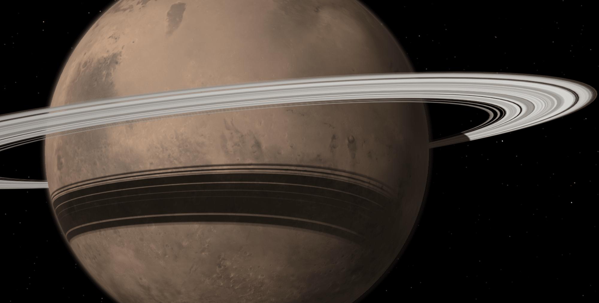 Marte podría tener anillos en el futuro