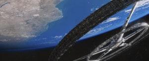 La estación espacial de la película Elysium. Crédito: Columbia TriStar Marketing Group