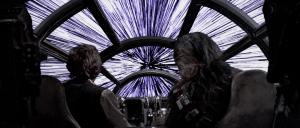 El Halcón Milenario entrando en el hiperespacio. Crédito: Lucasfilm