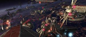 Una batalla espacial en Star Wars. Crédito: Lucasfilm