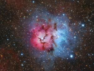 La Nebulosa Trífida. Crédito: Imagen original de Lorand Fenyes