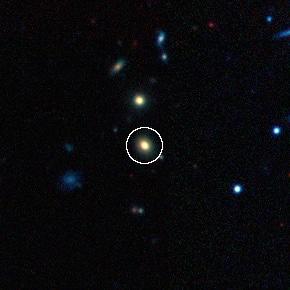 Imagen de la galaxia en la que se encuentra la supernova. Crédito: Dark Energy Survey