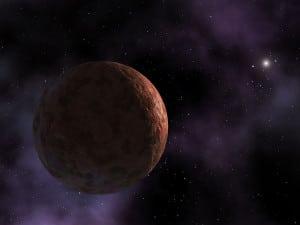 Recreación artística de Sedna, uno de los objetos celestes más distantes que conocemos en el Sistema Solar. Crédito: NASA/JPL-Caltech/R. Hurt (SSC-Caltech)