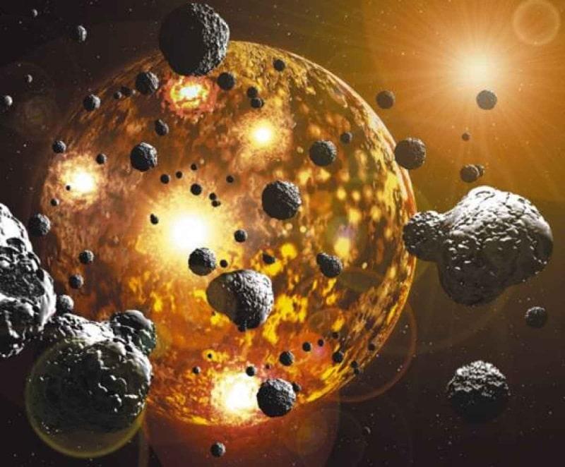Los bloques de la vida pudieron llegar en meteoritos