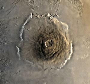 El Monte Olimpo fotografiado por la sonda Viking 1. Crédito: NASA