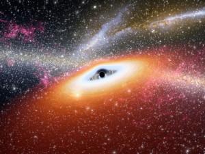 Ilustración de un joven agujero negro. Crédito: NASA/JPL-Caltech