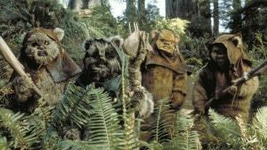 Endor, hogar de los Ewoks en la popular saga Star Wars, es una exoluna. Crédito: Star Wars: Episode VI Return of the Jedi