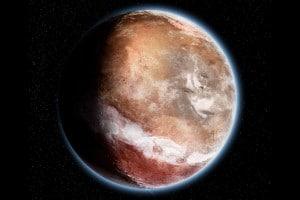 Un concepto artístico de cuál podría haber sido el aspecto de Marte, hace 4.000 millones de años. Crédito: Didier Florentz