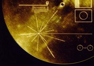 Mapa de púlsares de los discos de las sondas Voyager. Crédito: NASA/JPL