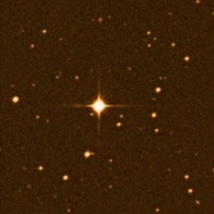 La estrella Gliese 581. Crédito:Digital Sky Survey / ESO
