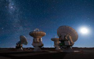 Antenas del Atacama Large Millimeter Array. Crédito: ESO