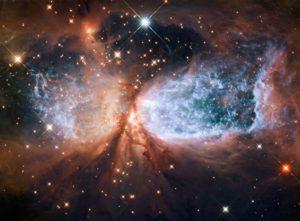 Esta es la nebulosa Sh2-106, una región compacta de formación de estrellas en la constelación del cisne. Crédito: NASA/ESA