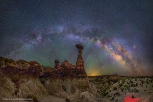 La Vía Láctea vista desde Arizona. Crédito: David Lane & Robert Gendler