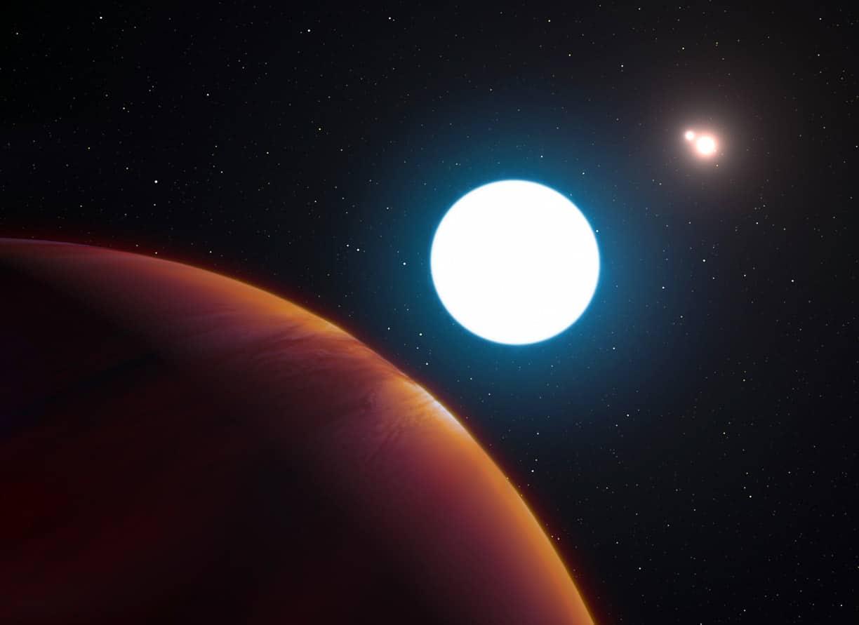 Descubren el primer exoplaneta en un sistema triple