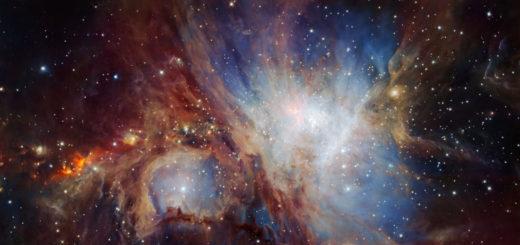 La Nebulosa de Orión vista en infrarrojo. Crédito: ESO