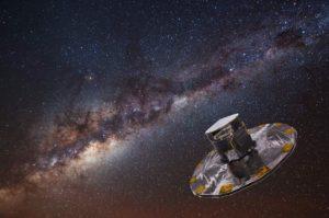 Concepto artístico del satélite Gaia. Crédito: ESA/ATG Medialab