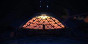 Concepto artístico del observatorio del Sistema de Transporte Interplanetario de Spacex. Crédito: Elon Musk/Spacex
