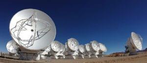 El telescopio ALMA. Crédito: ESO
