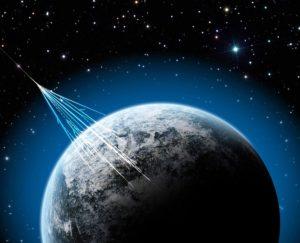 Los rayos cósmicos podrían ser una fuente de alimentación, tanto para algunos organismos de la Tierra como para formas de vida de otros lugares de la galaxia. Crédito: NSF/J. Yang