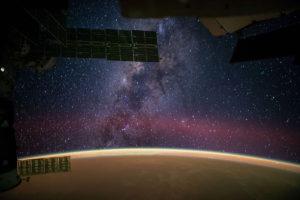 La Vía Láctea, vista desde la Estación Espacial Internacional. Crédito: NASA/Reid Wiseman